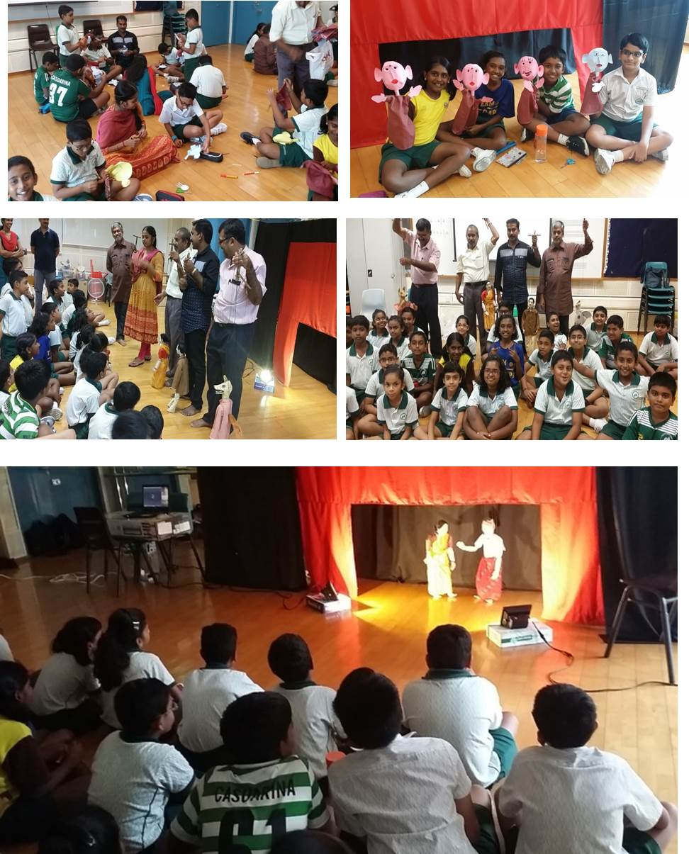 kerala puppetry workshop casuarina primary student tamil
